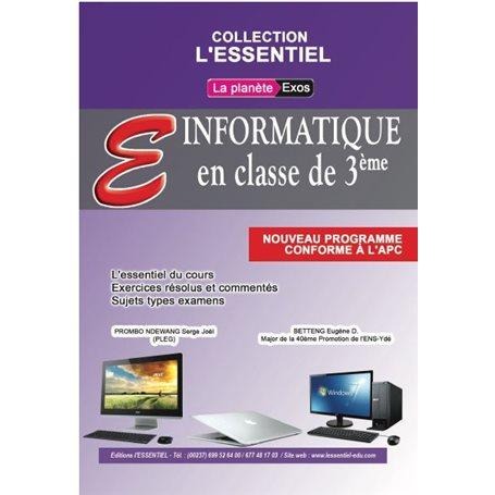 Annale de Informatique -  l'ESSENTIEL | 3ème - BEPC