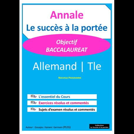 Annale de Allemand -  SUCCES A LA PORTEE | Terminale - BAC