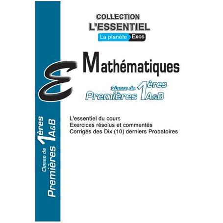 Annale de Mathématiques -  l'ESSENTIEL | 1ère A & SES  - Probatoire