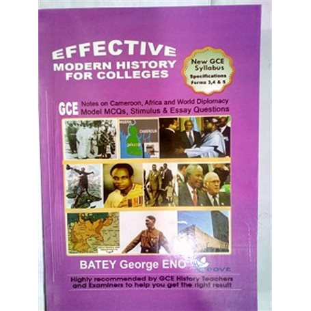 Effective Modern History for Colleges Forms 3, 4, and 5 | Level Form 4
