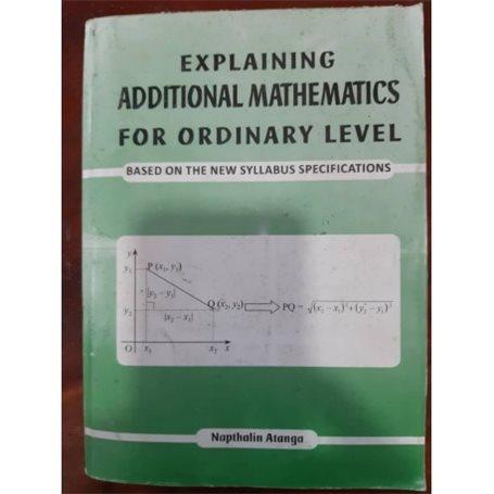 Explaining additional mathematics | Level Form 4