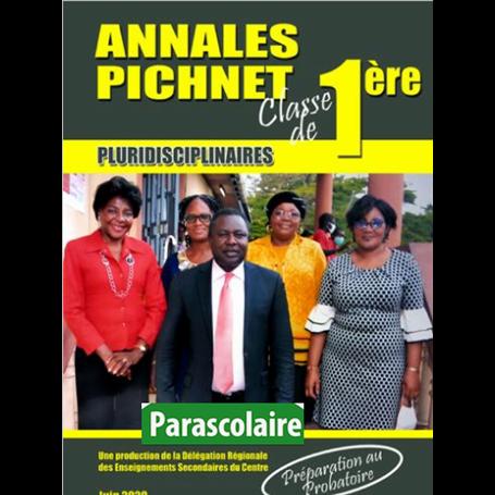 Annales pluridiscinaires Probatoire-Exercices et Corrigés - Collection PICHNET   livre parascolaire | Niveau 1ere
