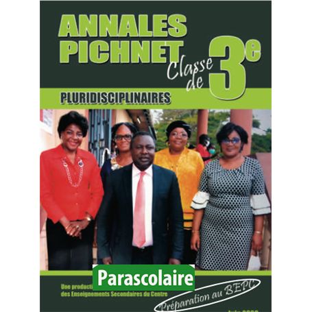 Annales pluridiscinaires Probatoire-Exercices et Corrigés - Collection PICHNET   livre parascolaire | Niveau 3eme