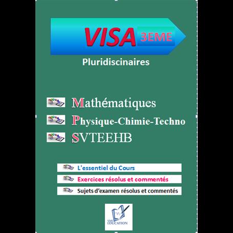 Collection VISA    Annales pluridiciplinaires    e-Book | Niveau 3ème