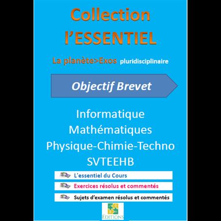 Collection ESSENTIEL    Annales pluridiciplinaires    e-Book | Niveau 3ème