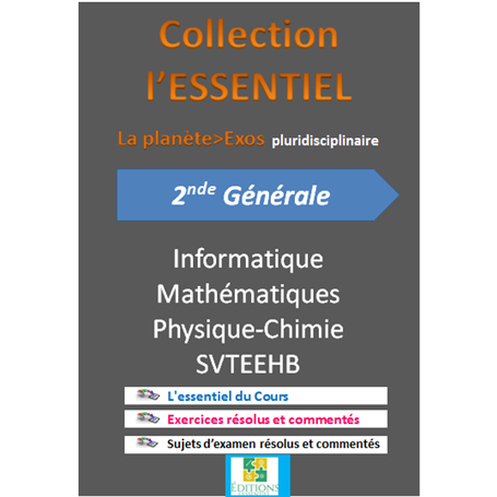 Collection ESSENTIEL    Annales pluridiciplinaires    e-Book | Niveau 2nde