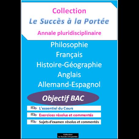 Collection SUCCES A LA PORTEE    Annales pluridiciplinaires    e-Book | Niveau Tle